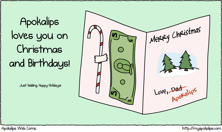 From Jason: Check twitter's @loadedsanta for some holiday laughs!